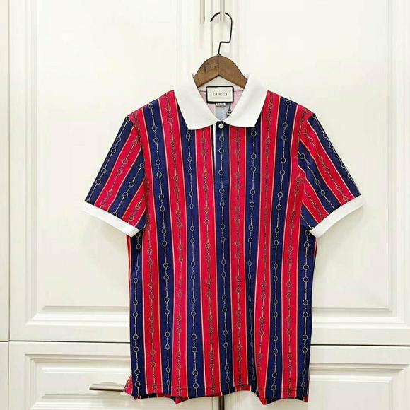 2adcc0746 Gucci Shirts | Polo With Horsebit Chain Print | Poshmark